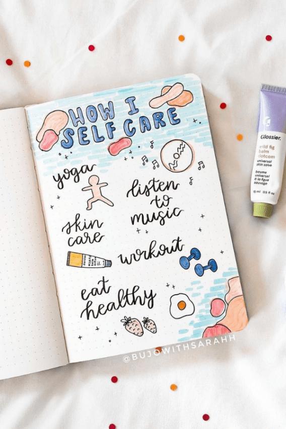 February bullet journal mood tracker
