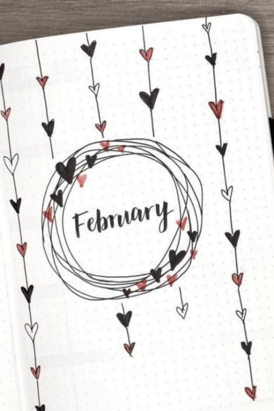 February bullet journal