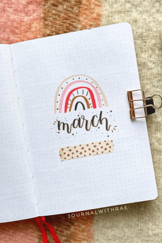 March bullet journal cover
