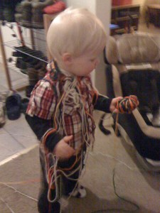 e tangled up in lots of yarn