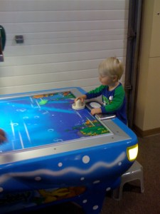 first air hockey game at funmazing