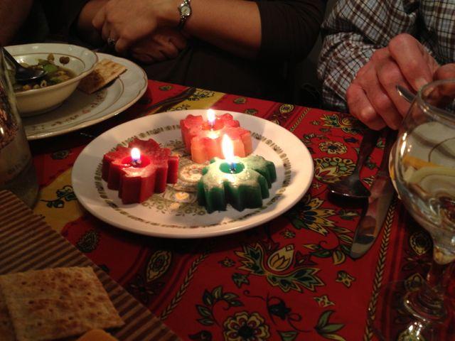 burning maple leaf candles