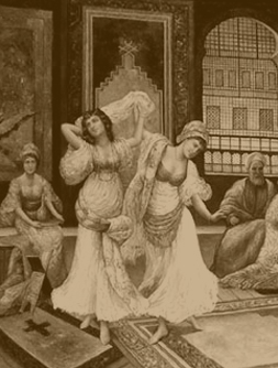 sepia history of belly dance