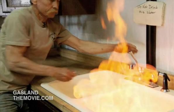 gasland_clip tap water on fire