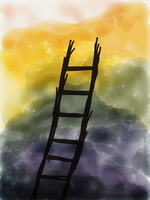 The ladder. Image by Dilovely