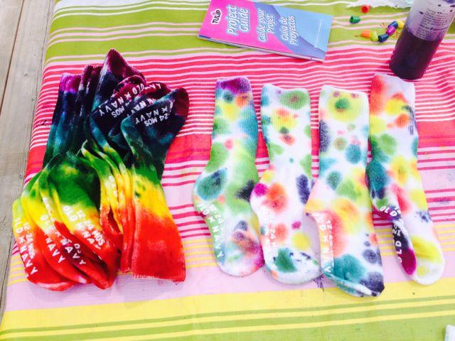 tie-dye kids socks