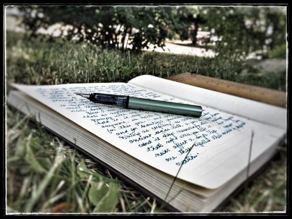 5-day artist challenge journal writing fountain pen