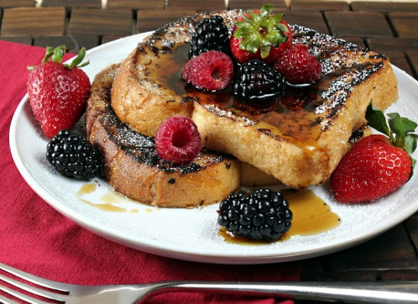 Dramatic French toast.