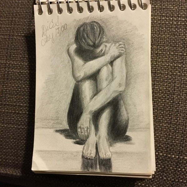 woman in pain drawing 5-day artist challenge
