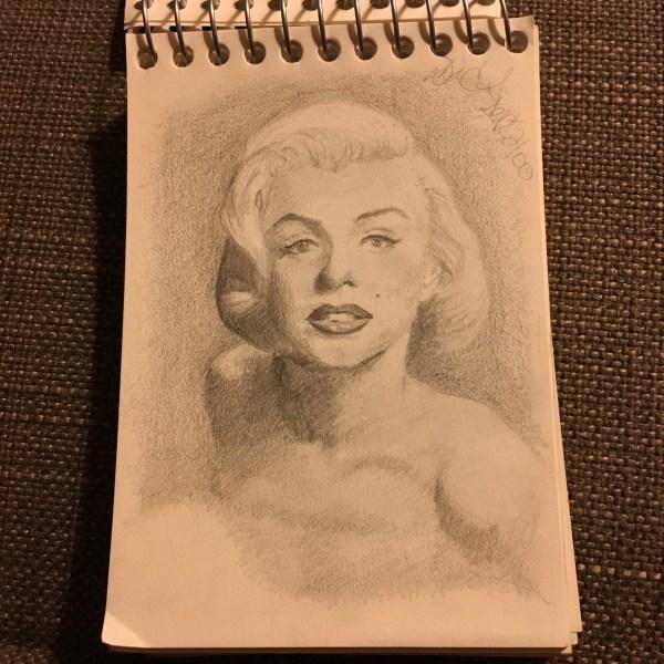 marilyn monroe drawing 5-day artist challenge