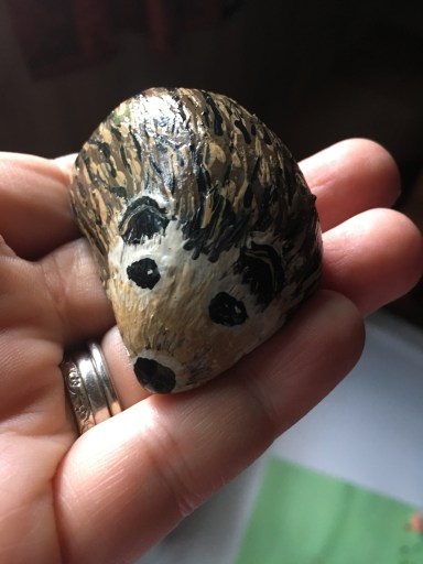painted-hedgehog-rock