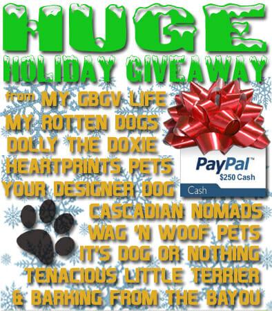 Huge Holiday Pet Blogger Giveaway