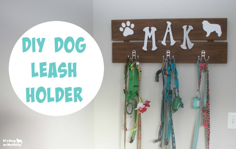 Can't find the dog leash holder you want? It's easier than you think to create your own! Here's how I created my own DIY dog leash holder.