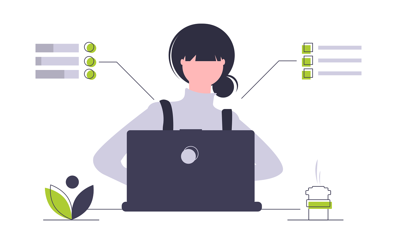 person working on project