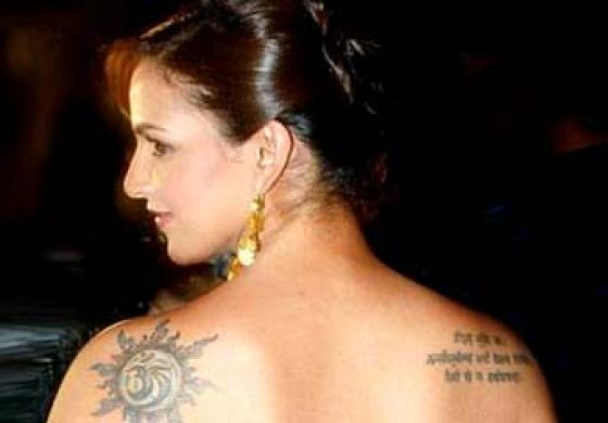 Bollywood celebrity tattoos