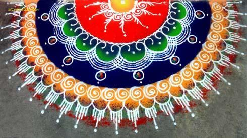 diwali in india rangoli pics