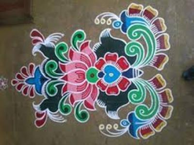 easy rangoli designs step by step
