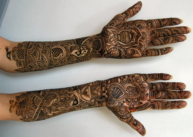 beautiful bridal mehandi designs for full hands