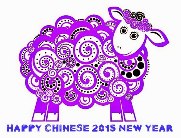 Happy New Year Chinese wishes goat animal
