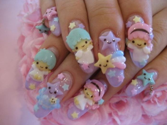 3d nails art images nail art and nail design ideas how to do 3d nail art with precision sweet heaven 3d nail art with cartoons prinsesfo prinsesfo Images