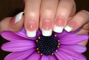 French Manicure At Home Short Nails