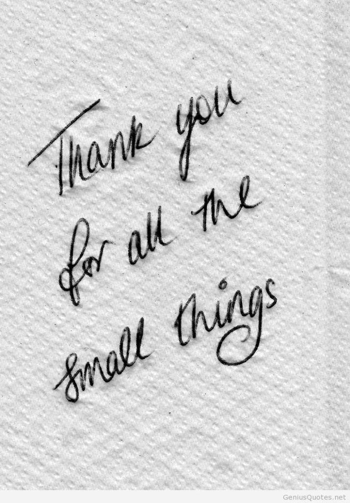 thank-you-for-all-the-small-things