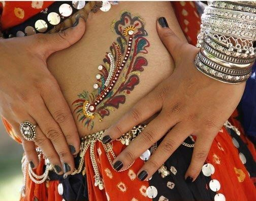 navratri tattoo picture gallery