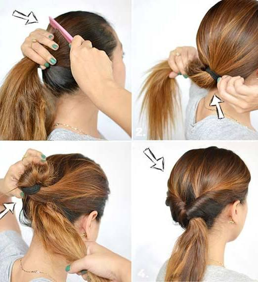 inverted pony for long hair