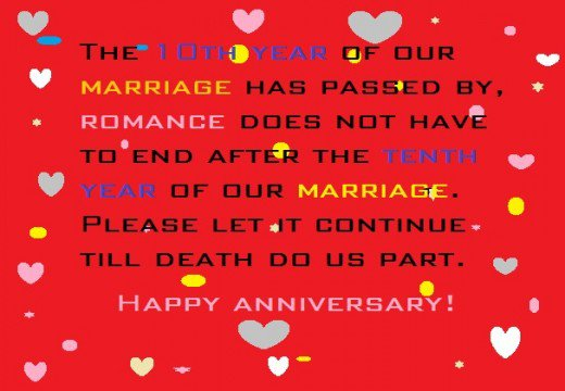 happy 10th anniversary wishes from a husband
