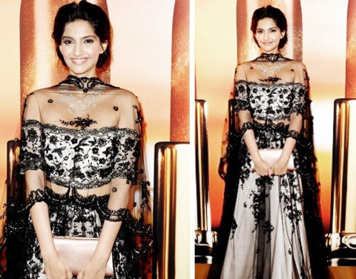 sonam kapoor stunning look in Indian wear