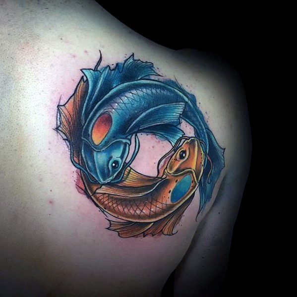 Top 20 best koi fish tattoo design tattoo ideas in trend for Koi fish yin yang tattoo