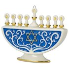 Hallmark's Festival of Lights Menorah Porcelain Ornament