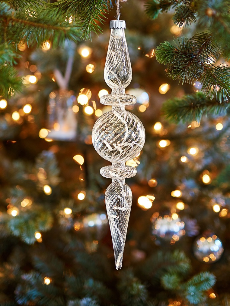 Twisted Finial Ornament - PotterTwisted Cone Ornament - Pottery Barn Holiday 2016 Catalog