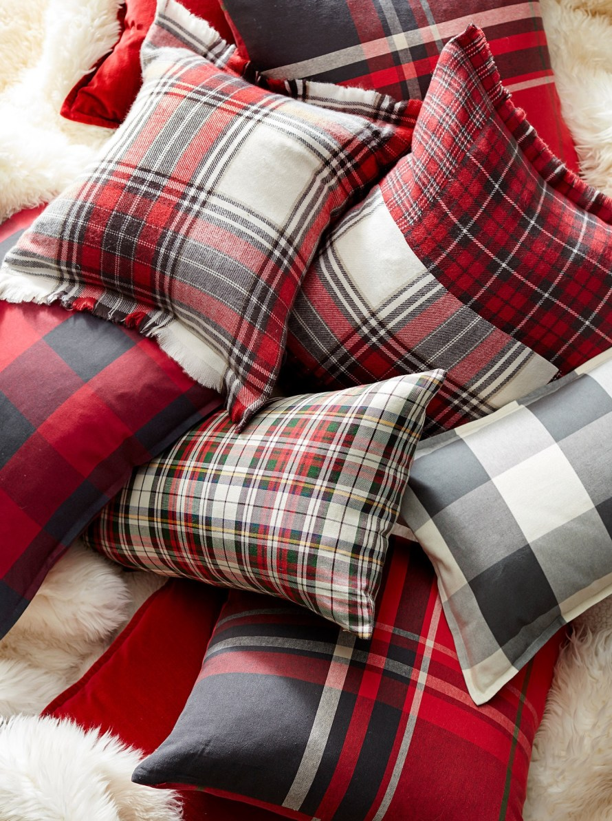 Plaid Pillows - Pottery Barn Holiday 2016 Catalog