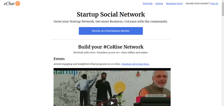 India's Best Startup Social Network - eChai