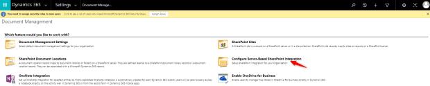 D365 Document Management Page