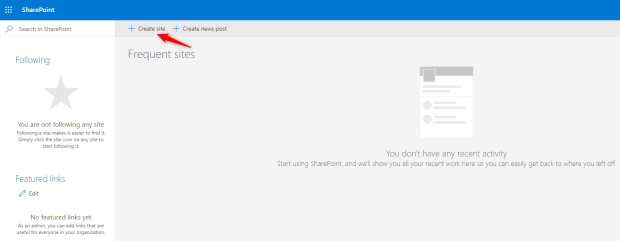 SharePoint Home Page