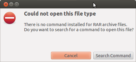 Ubuntu RAR File Error