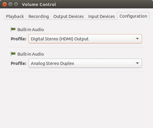 No audio in HDMI in UBuntu