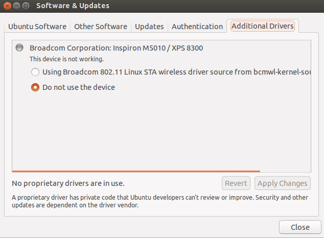 Install additional drivers Ubuntu 13.10