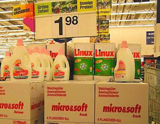 Linux Microsoft Washing Powder