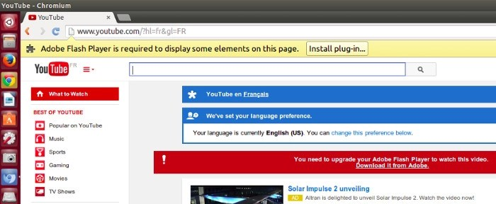 installer flash player chrome linux
