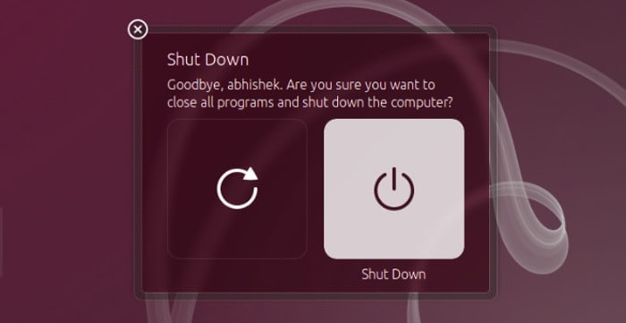 Get rid of shutdown confirmation dialogue box in Ubuntu 14.04