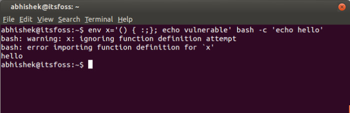 Check Linux for Shellshock vulnerability