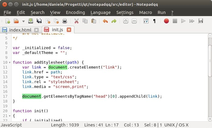 Notepadqq is the best alternative to Notepad++ in Linux