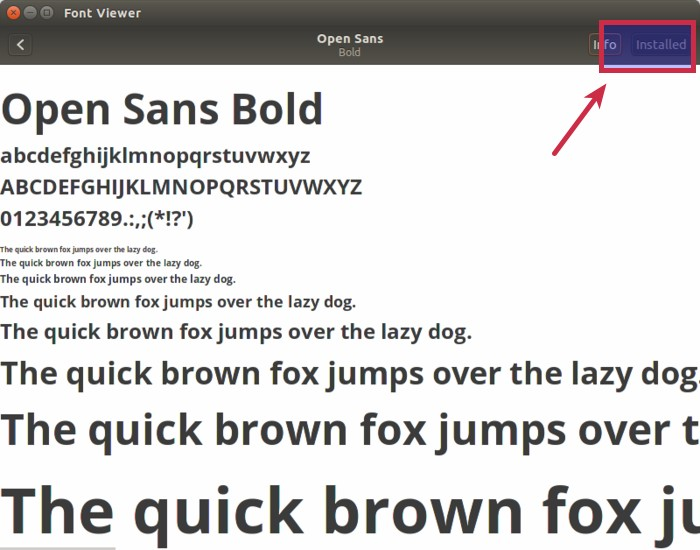 Installing additional fonts in Ubuntu Linux
