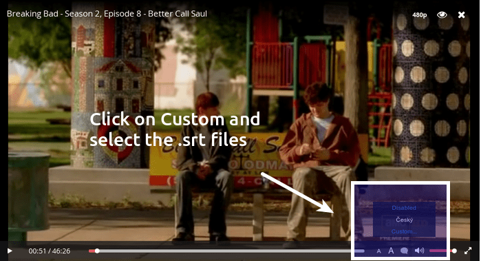 Add custom subtitles in Popcorn Time