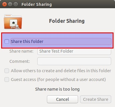 Share folders in Ubuntu and Windows