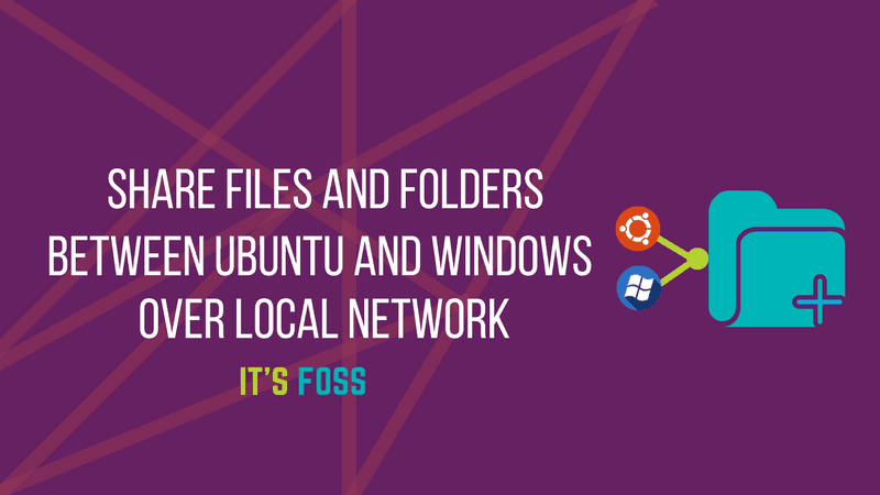 Share files between Windows and Linux on local network
