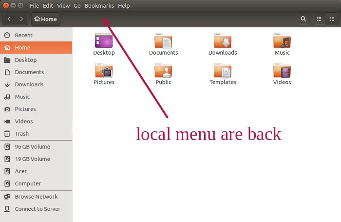 Local menus in Ubuntu 15.04